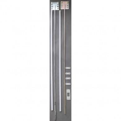Обтегач за гардеробна врата - метални  планки