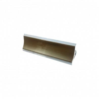 PVC Водобранн лайсна V120 инокс - шанпанско