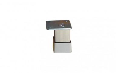 Крак 30х30, h=50  mm    гладък  инокс