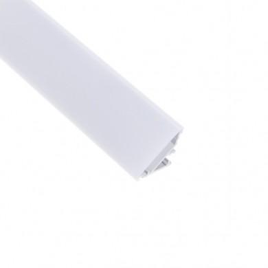 Алуминиев профил за LED лента ъглов с бял капак  CORNERLINE