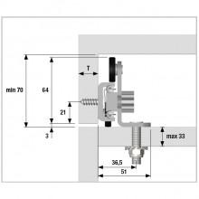 Механизъм за изтеглящ се дублиращ плот на кухненски остров SLIDETOP