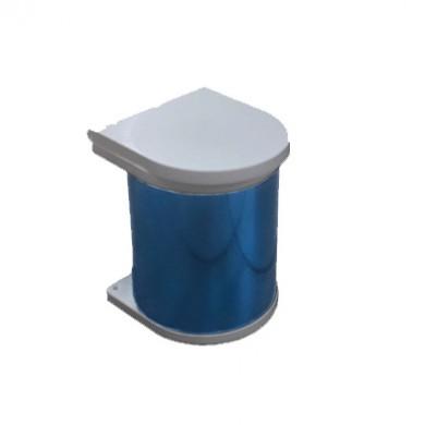 Кош за вграждане -  малък - хром+PVC    7 L