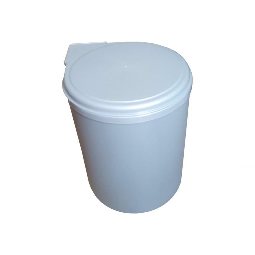 Кош за вграждане Romagna Plastic PVC, 13 L, бял /сив, за монтаж в шкаф 400 мм