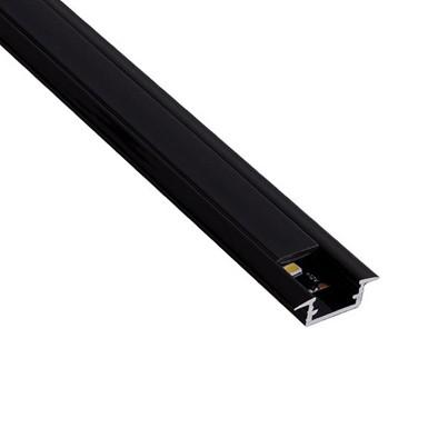 Алуминиев черен вкопаем профил за LED лента   INLINE mini