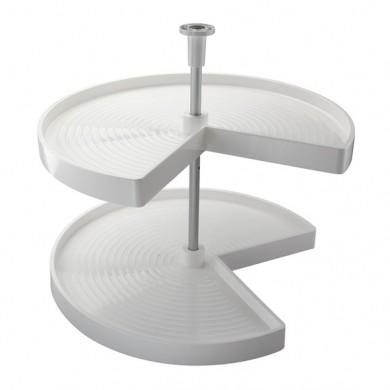 3/4 въртяща кошница PVC за ъглов шкаф