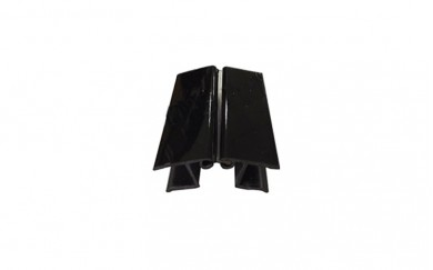 PVC Ъгъл чупещ,  за цокъл 3,66 m   - черен гланц
