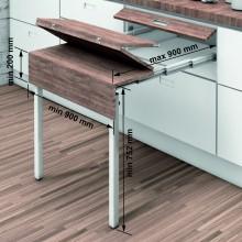 Механизъм за изтегляща се маса с крака от шкаф EXTABLE