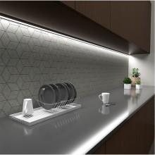 Алуминиев профил за LED лента черен ъглов с черен капак PROFIL NM