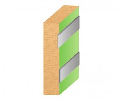 Алуминиева лента декор   -  20 х 2 mm