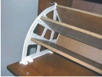 PVC мехaнизъм за обувки три реда