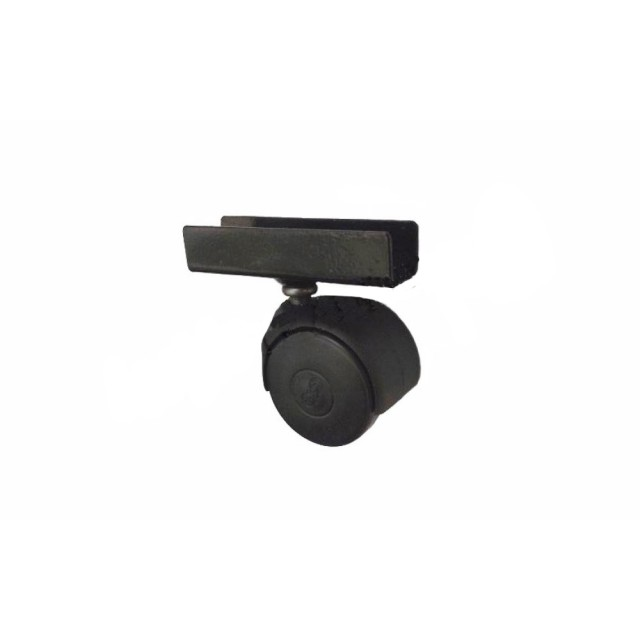 Колелце с П образна планка за 18 mm  черно  Ø40,  h=50 mm