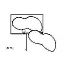 Механизъм за вграждане в сляп ъгъл  с плавно прибиране - тип бъбрек
