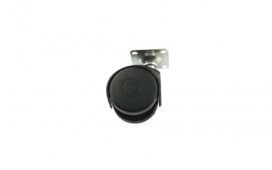 Колелце за мебели черно  Ø30,  h=46 mm
