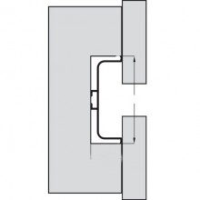 Алуминиев U профил за система вратички без дръжки