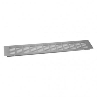 Решетка вентилационна алуминиева Инокс 80х500