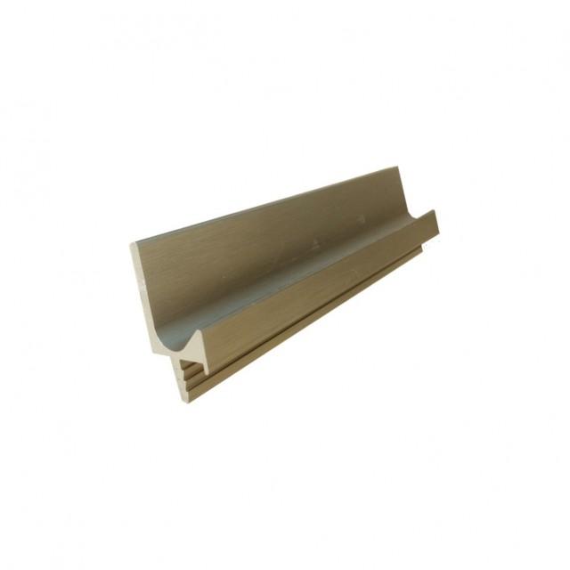 Алуминиева L кант профилна дръжка с нут  в инокс