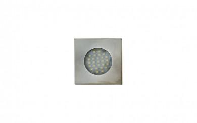 LED луна за вграждане - метален корпус - квадратна 220V