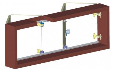 Комплект механизъм за чупещи врати до 40 кг.    Y-025-1t