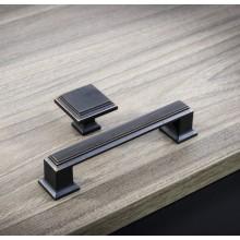 Мебелна дръжка UR079-128  черен мат с мед антик патина