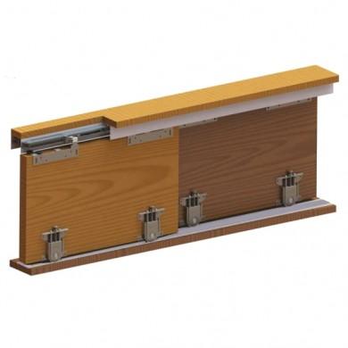 Механизъм за гаредеробни плъзгащи врати с плавно затваряне и  долно водене