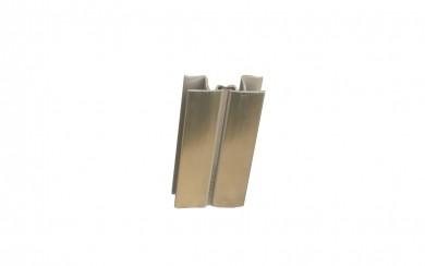 PVC Ъгъл чупещ,  за цокъл 3,66 m   - инокс /шампанско/