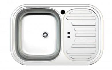 Мивка AS 09  48x73   0.6 mm -170 mm   голям сифон