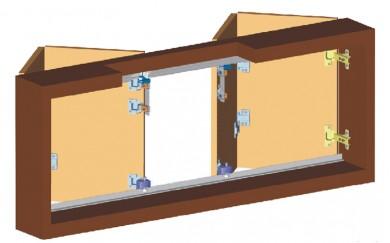 Комплект механизъм за чупещи врати до 60 кг     Y-025-1c