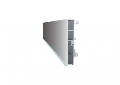 PVC цокъл - мат хром  -  3.66 m