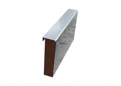 Кант чело 8/4 mm - хром