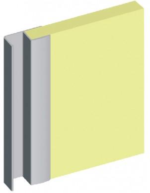 Алуминиева кант дръжка за гардеробна врата - подсилена - 18 mm