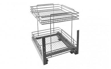 Изтеглящ механизъм с два реда за посуда с плавно прибиране