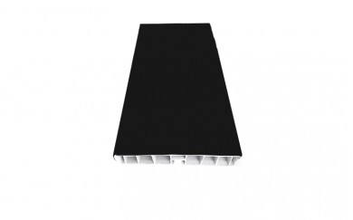 PVC цокъл - черен гланц  -  3.66 m