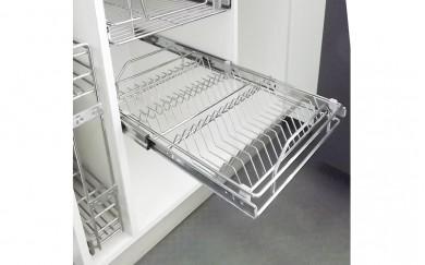 Поставка за чинии и чаши  - пълно изтегляне - плавно прибиране