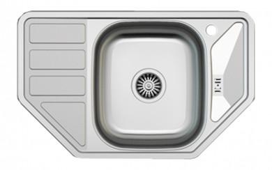Мивка AS 10    49х77 cm, 0.6 mm, голям сифон TРАПЕЦ