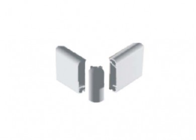 Ъгъл за челен борд  от две части 40 mm.