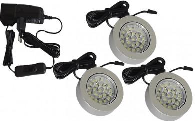 LED луни кръгли - без винтов монтаж  -  комплект