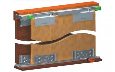 Механизъм за плъзгащи гардеробни врати  до 80 кг.   SKM-80