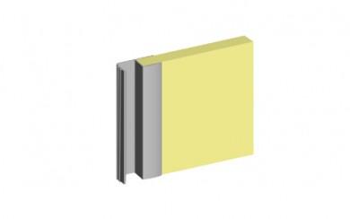 Алуминиева кант дръжка с четка и буфер за гардеробна врата - 18 mm