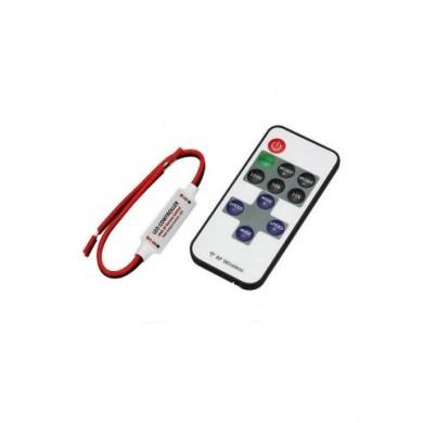Мини димер/контролер за едноцветни LED ленти с динамични режими и радио-управление RF