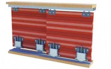 Механизъм за плъзгащи гардеробни врати до 70 кг.