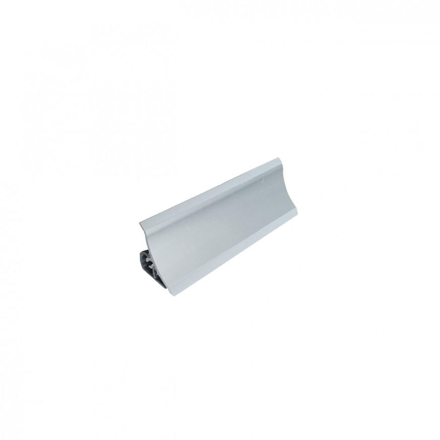 PVC  водобранна лайсна V120  сребро    3.00 m.