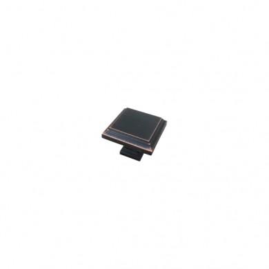 Мебелна дръжка GR079  черен мат с мед антик патина