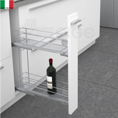 Механизъм за бутилки и препарати SIGE с тандем водач и пълно изтегляне