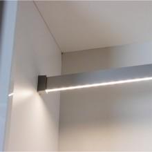 Алуминиев профил за LED лента като светещ лост за гардероб  PROF-REL-S