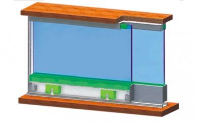 Механизъм за стъклени плъзгащи врати      SISO