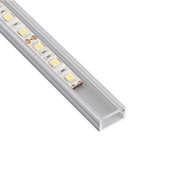 Алуминиев профил за LED лента  прав с бял капак  LINEM