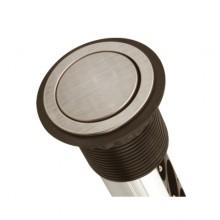 Вертикален контакт за вграждане в плот 3 гнезда и 2 USB  инокс