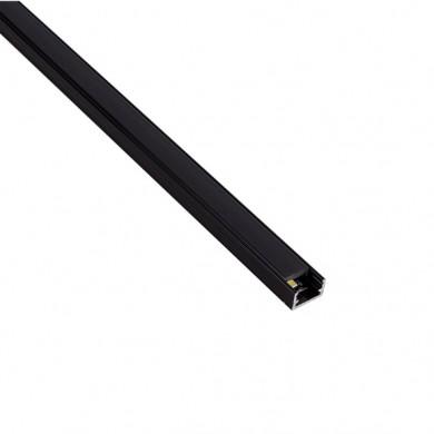 Алуминиев профил за LED лента черен прав с черен капак  LINEM