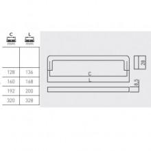 Дръжка мебелна  BAGIO мат хром GTV