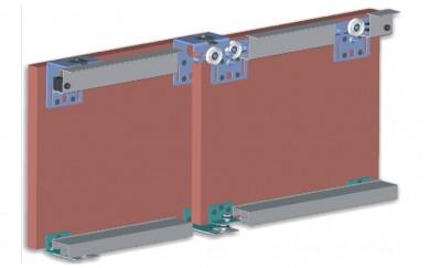 Комплект механизъм за външни плъзгащи врати до 60 кг    Y-028 M